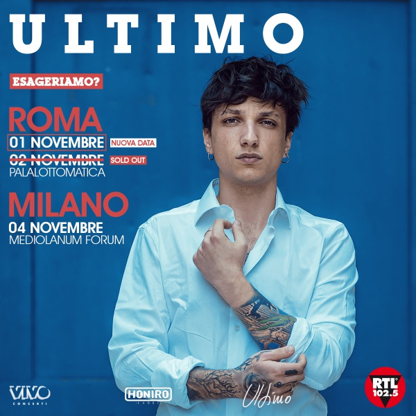 Ultimo, sold out al Palalottomatica in cinque mesi, arriva la doppia data